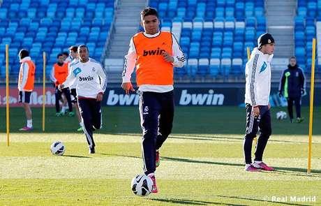 <p>Casemiro terá a chance de disputar seu primeiro jogo pela equipe principal do Real Madrid</p>