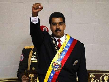 <p>O presidente venezuelano, Nicolás Maduro, tomou posse no dia 19 de abril</p>