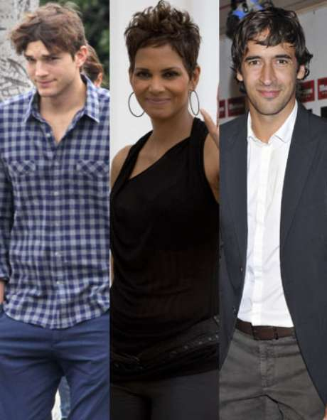 <p>Ashton Kutcher, Halle Berry y Raúl González</p>