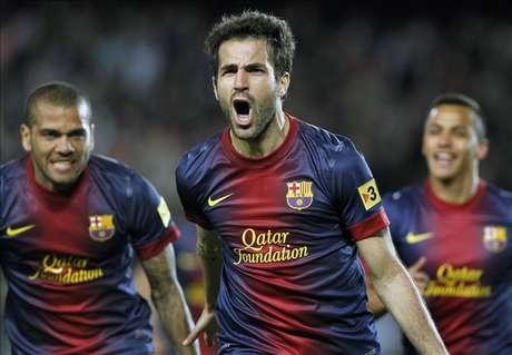 1-0. Cesc deshace el muro del Levante con el Barça mirando a Múnich