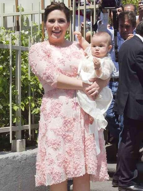 Angélica Vale bautizó a su hija el 20 de abril, fecha en la que su padre cumpliría años.