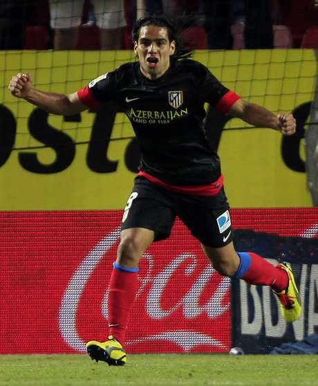 Falcao García fez o gol da vitória do Atlético de Madrid