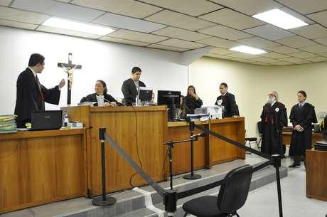 Julgamento de Bola começou por volta das 9h30 desta segunda-feira no Fórum de Contagem