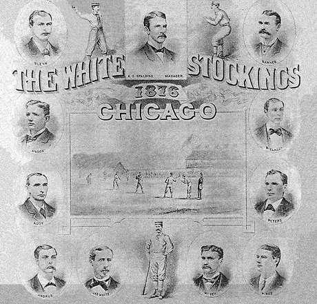 Chicago White Stockings son los antecesores de los dos equipos de beisbol de Chicago, los Cachorros en 1876 y los Medias Blancas en 1900.