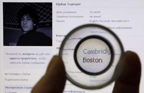 Dzhokhar Tsarnaev, de 19 anos, um dos suspeitos de cometer o atentado na Maratona de Boston, em foto divulgada pelo FBI.