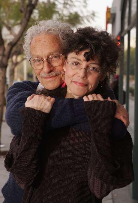 Allan Arbus com a filha, Amy Arbus