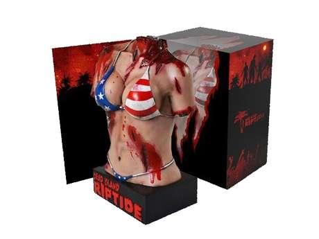 Pacote especial, 'Dead Island: Riptide Zombie Bait Edition', vem com torso de mulher multilado