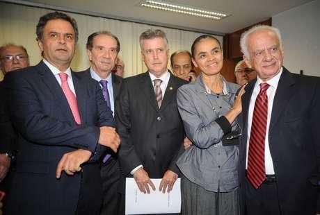 Marina Silva é recebida no Senado
