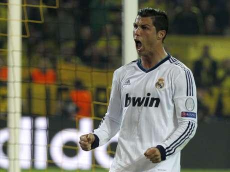 Cristiano Ronaldo descontou para o Real Madrid ainda no primeiro tempo