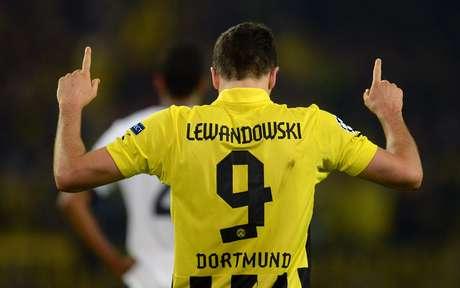 <p>Lewandowski foi o grande nome da vitória doBorussia Dortmund</p>