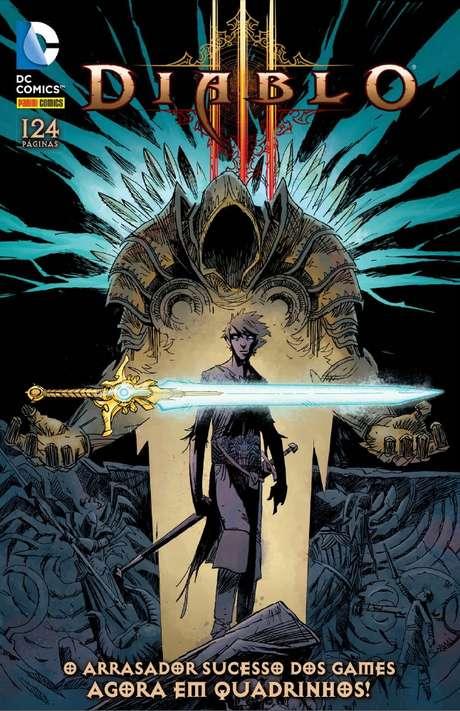 'Diablo: Sword of Justice' traz o cinco volumes da séria, com 124 páginas, e custa R$ 17,90