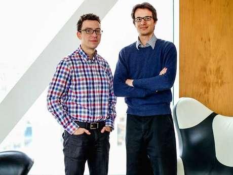 O CEO do Duolingo, Luis von Ahn, e o CTO da empresa, Severin Hacker