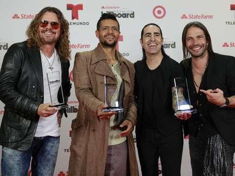 Maná, una de las agrupaciones ganadoras de los Billboard Latinos 2013.