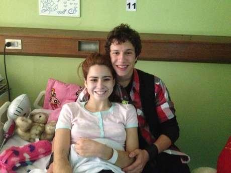 Catalina Picarte junto al ex protagonista de `Pobre rico´, Alonso Quintero.