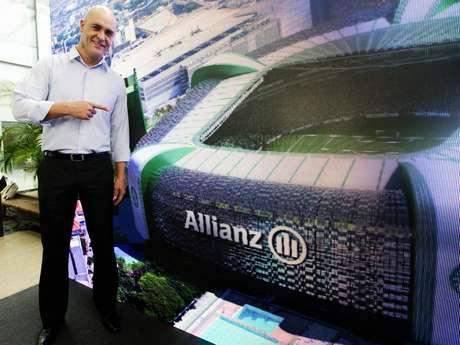 <p>Marcos aprovou o nome Allianz Parque para o novo estádio do Palmeiras</p>