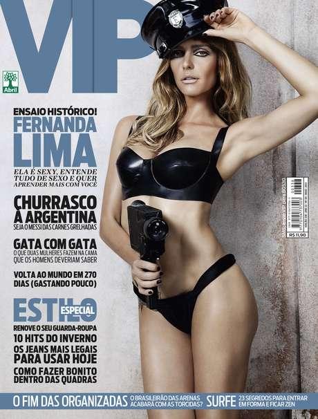 <p>A apresentadora estarána capa de maio da revista</p>