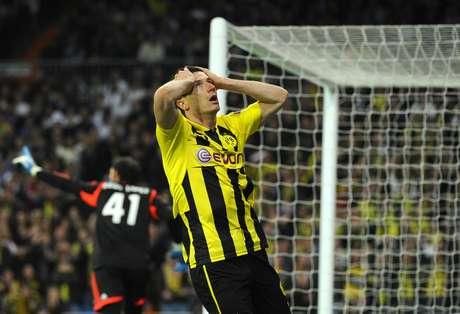 <p>Lewandowski (Borussia Dortmund) subiu 22 posições em dois meses</p>