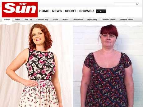 <p>Vikki monitorou sua perda de peso por um diário de fotos</p>