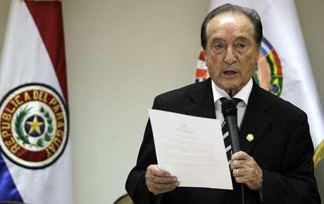 <p>Figueredo, de 81 anos, é atual presidente da Conmebol</p>