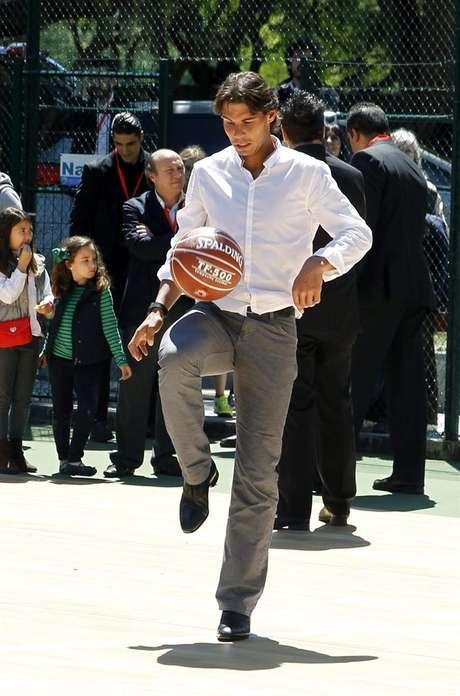 El tenista Rafael Nadal durante un acto publicitario