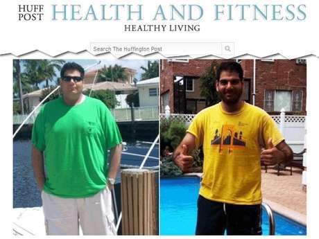 <p>Michael Arkous perdeu 45 kg com mudançana alimentação e exercícios</p>