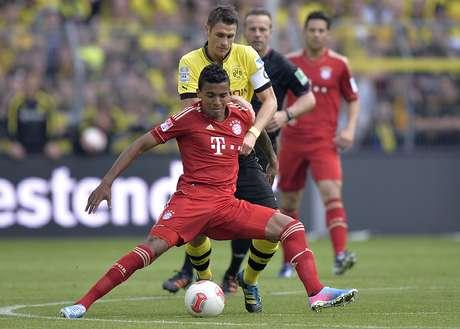 <p>Luiz Gustavo é reserva no Bayern de Munique, mas vai jogar a Copa das Confederações</p>