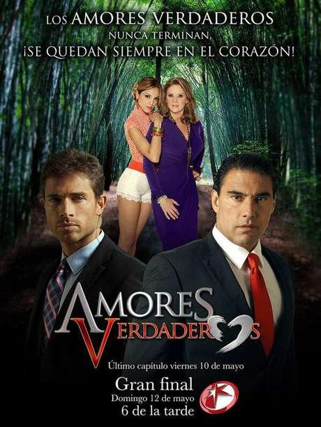 <p>El cartel de la telenovela 'Amores Verdaderos' anuncia la fecha del final del melodrama.</p>