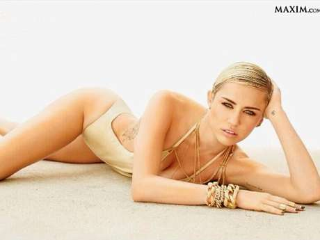 <p>Miley Cyrus compartió en Instagram la foto con la que se corona como la mujer más sexy de la revista Maxim.</p>