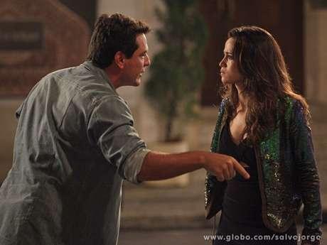 <p>O casal já se desentendeu diversas vezes durante a trama de Gloria Perez</p>