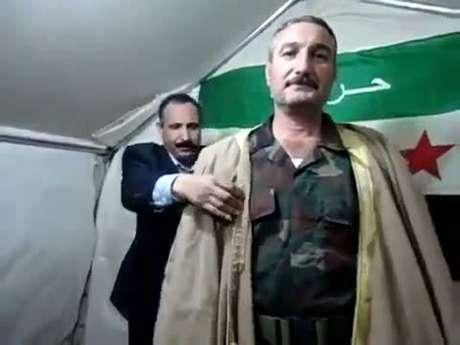O ex-coronel Riad al-Asaad, líder do ELS, principal braço armado dos rebeldes