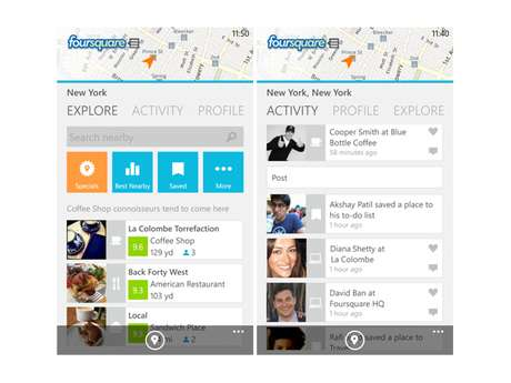 Aplicativo do Foursquare para Windows Phone 8 foi 'especialmente otimizado' para aparelhos Nokia Lumia