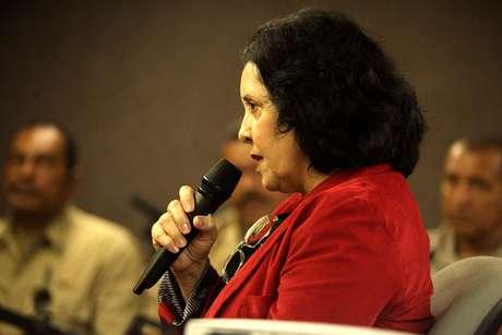 <p>Eônia Pereira Bezerra, ex-cunhada de PC Farias, depõe como testemunha do juízo, em Maceió (AL)</p>