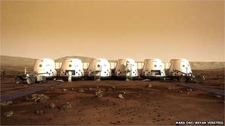 Así sería la vida de los humanos en Marte, según la empresa Mars One.