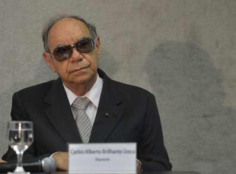 <p>O coronel reformado Carlos Alberto Brilhante Ustra, que comandou o DOI-Codi-SP entre 1970 e 1974, prestou depoimento à Comissão Nacional da Verdade</p>