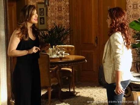 <p>Rosângela diz a Lívia que não aguenta mais correr risos e é ameaçada</p>
