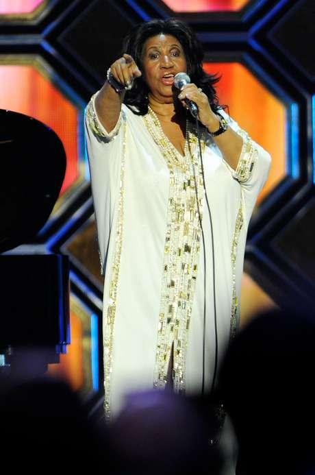 Aretha Franklin em show de abril de 2012