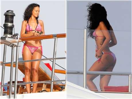 <p>Rihanna es una de las pocas famosas que le gusta exhibir sus encantos en las redes sociales.</p>