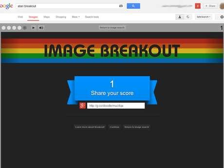 Game do Google Images que imita Atari Breakout permite compartilhar pontuação com os amigos