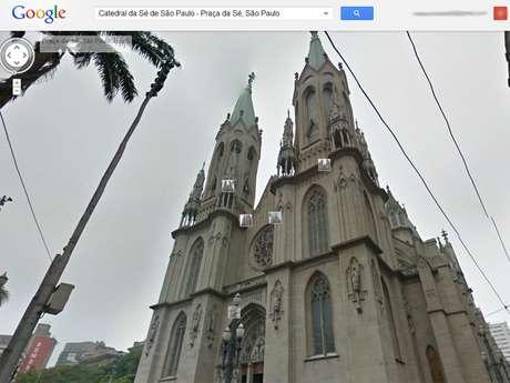 Catedral da Sé - aqui vista externamente do Street View - é uma das igrejas do projeto piloto