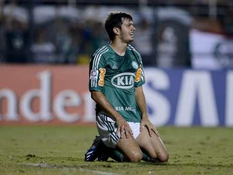 <p>Kleber lamenta lance desperdiçado pelo Palmeiras</p>