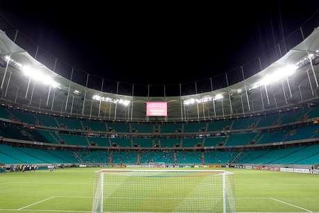 A Arena Fonte Nova esteve vazia por conta de protesto da torcida do Bahia