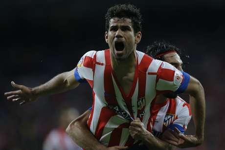 <p>Diego Costa empatou o placar no Bernabéu depois de grande jogada de Falcao García</p>
