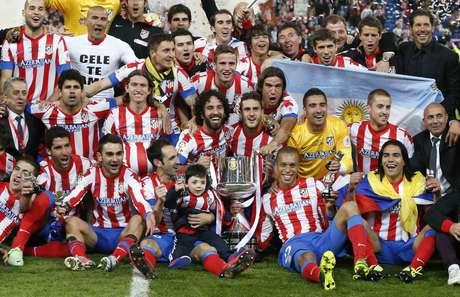 Depois de 14 anos, o Atlético de Madrid voltou a vencer o Real e de quebra conquistou a Copa do Rei
