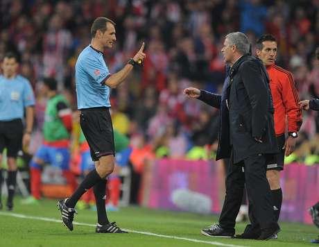 <p>Mourinho foi expulso na final da Copa do Rei da Espanha, vencida na prorrogação pelo Atlético de Madrid na última sexta-feira</p>