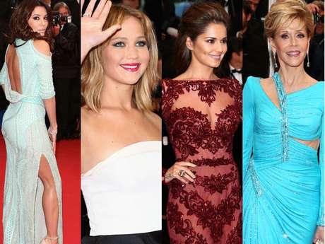 Eva Longoria, Jennifer Lawrence, Cheryl Cole e Jane Fonda chamaram atenção no tapete vermelho da première de 'Jimmy P.', em Cannes, neste sábado (18)