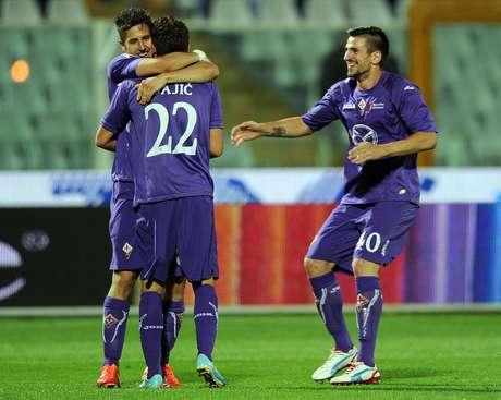<p>Apesar de golear, Fiorentina terá que se contentar com a Liga Europa</p>