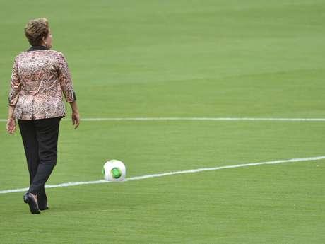 Dilma vem participando das inaugurações dos estádios que receberão a Copa do Mundo de 2014
