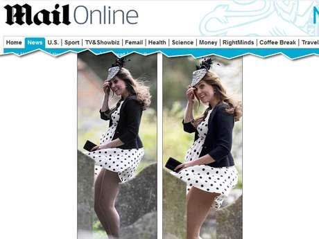 Kate Middleton quase mostrou demais quando seu vestido levantou com o vento na chegada ao casamento de dois amigos