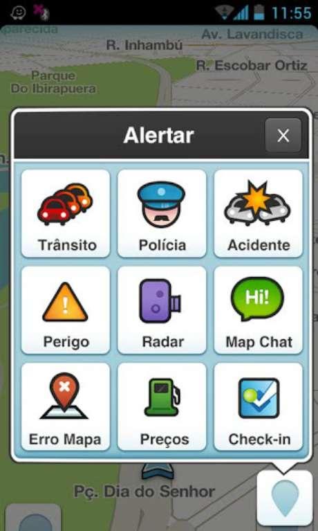 <p>Aplicativo de geolocalização Waze é abastecido com informações do trânsito fornecidos pelos próprios usuários</p>