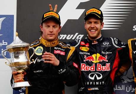 <p>Vettel &eacute; um dos melhores amigos de Raikkonen na F1</p>